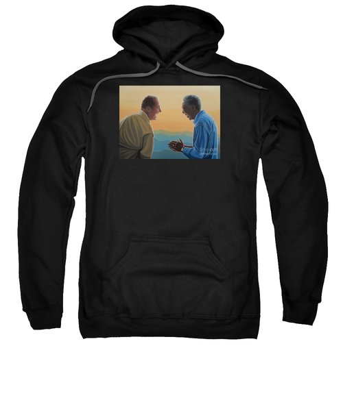 Jack Nicholson And Morgan Freeman Sweatshirt by Paul Meijering