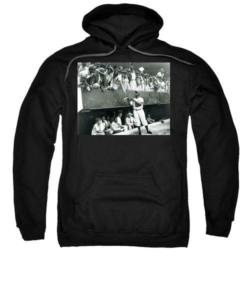 Jackie Robinson Signs Autographs Vintage Baseball Sweatshirt