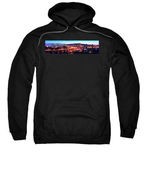 Jacques Cartier Bridge With City Lit Sweatshirt