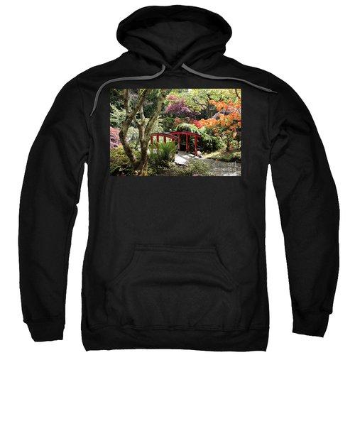Japanese Garden Bridge With Rhododendrons Sweatshirt