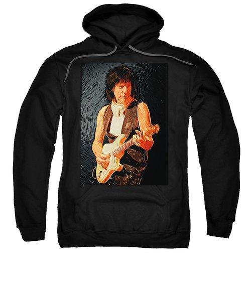 Jeff Beck Sweatshirt by Taylan Apukovska