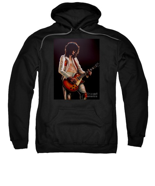 Jimmy Page In Led Zeppelin Painting Sweatshirt