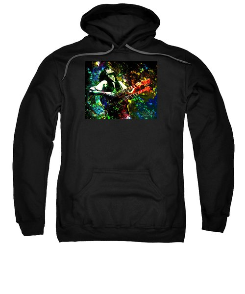 Jimmy Page - Led Zeppelin - Original Painting Print Sweatshirt by Ryan Rock Artist