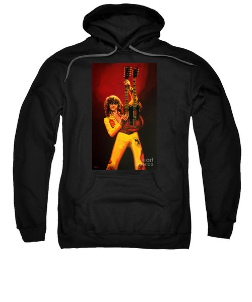 Jimmy Page Painting Sweatshirt by Paul Meijering