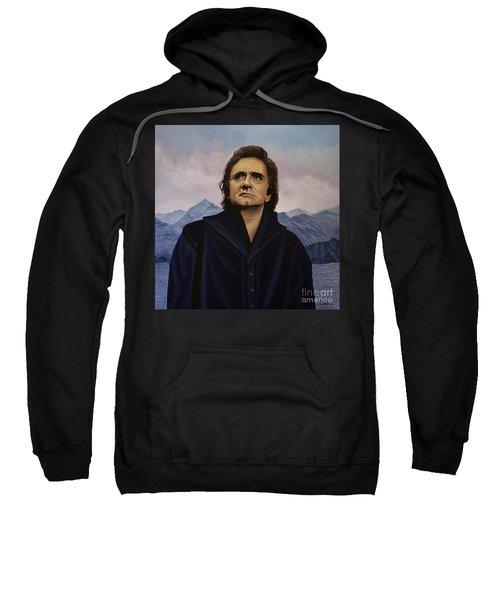 Johnny Cash Painting Sweatshirt by Paul Meijering