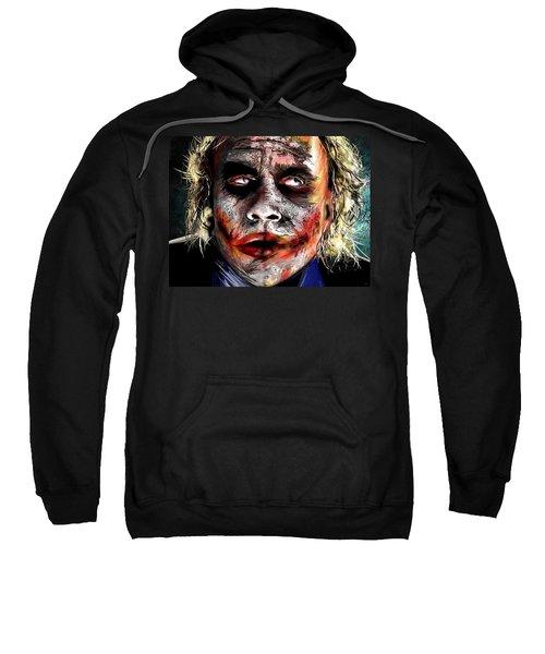 Joker Painting Sweatshirt by Daniel Janda