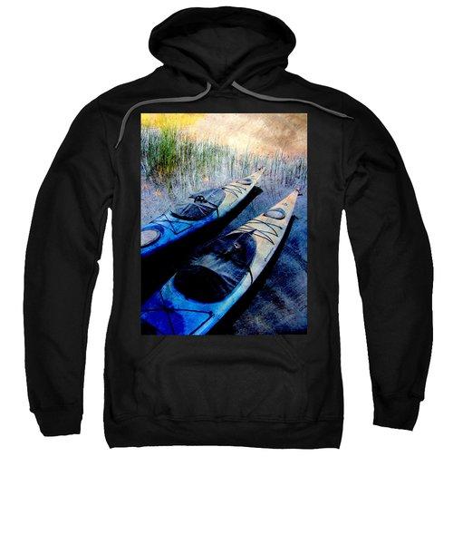 Kayaks Resting W Metal Sweatshirt
