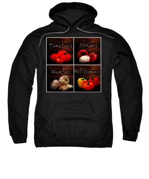 Kitchen Ingredients Collage II Sweatshirt by Lourry Legarde