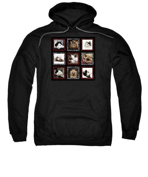 Kitty Cat Tic Tac Toe Sweatshirt