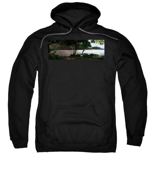 Koki Beach Hana Maui Hawaii Sweatshirt by Sharon Mau