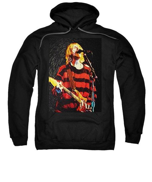 Kurt Cobain Sweatshirt by Taylan Apukovska