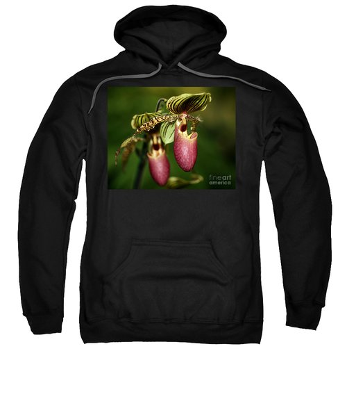 Lady Slipper Orchid Twins Sweatshirt