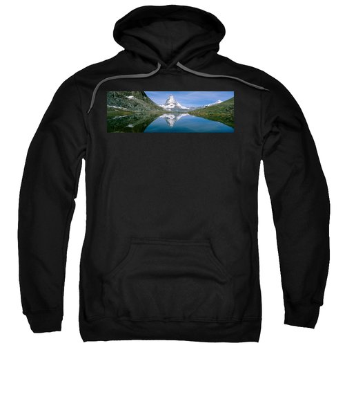 Lake, Mountains, Matterhorn, Zermatt Sweatshirt