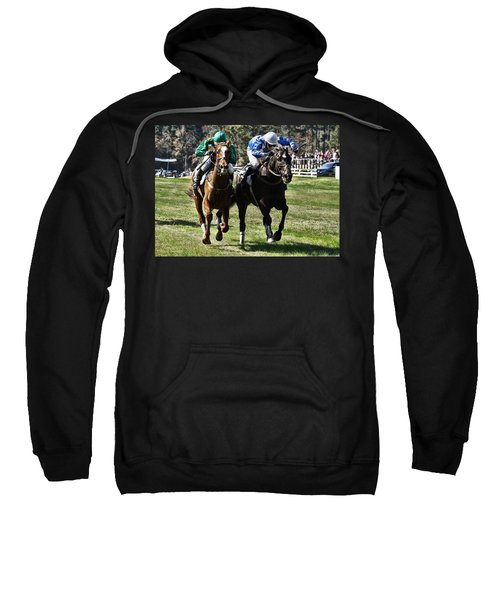Last One To The Finish Line Is A Rotten Egg Sweatshirt