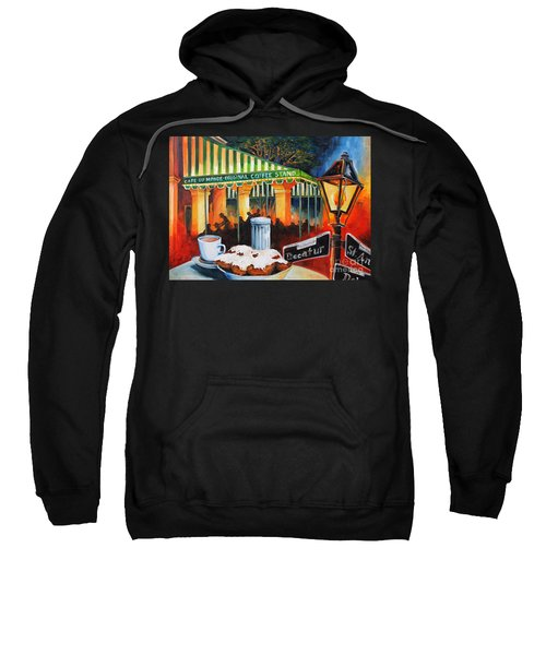 Late At Cafe Du Monde Sweatshirt