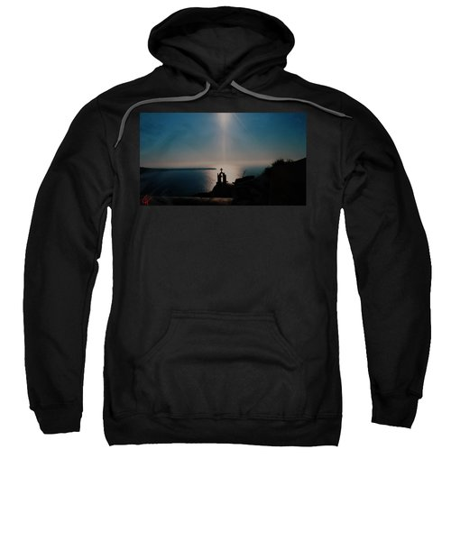 Late Evening Meditation On Santorini Island Greece Sweatshirt