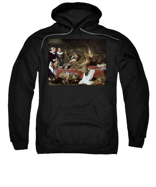Le Cellier Oil On Canvas Sweatshirt by Frans Snyders or Snijders