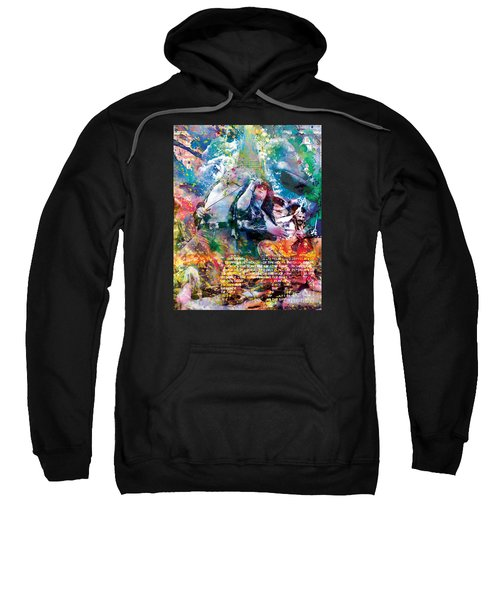Led Zeppelin Original Painting Print  Sweatshirt by Ryan Rock Artist