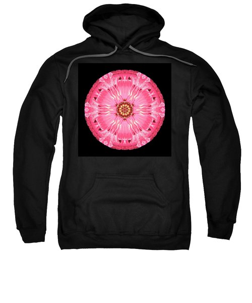 Light Red Zinnia Elegans Flower Mandala Sweatshirt
