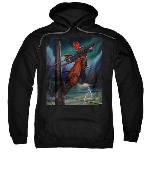 Lineman In Storm Sweatshirt