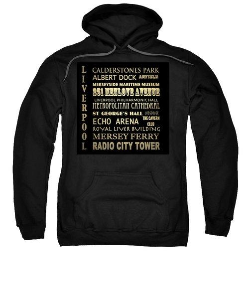 Liverpool England Famous Landmarks Sweatshirt