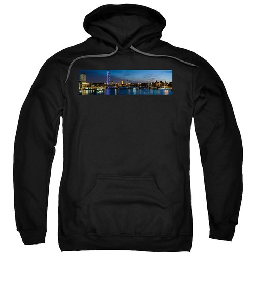 London Eye And Central London Skyline Sweatshirt by Panoramic Images