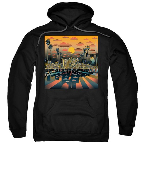 Los Angeles Skyline Abstract 2 Sweatshirt