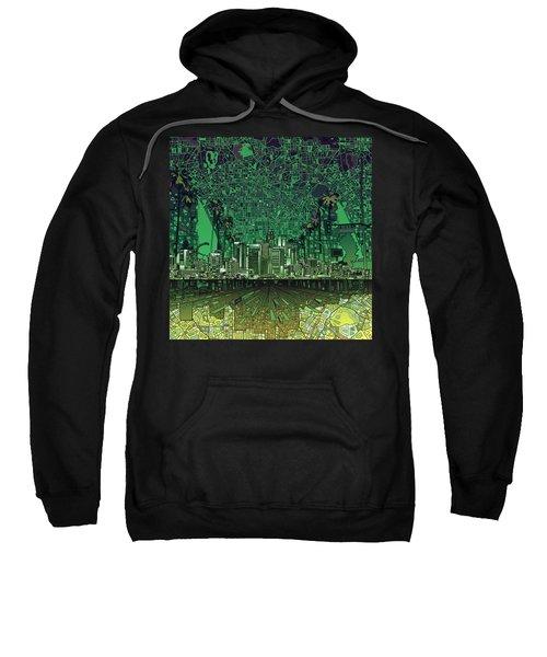 Los Angeles Skyline Abstract 6 Sweatshirt by Bekim Art