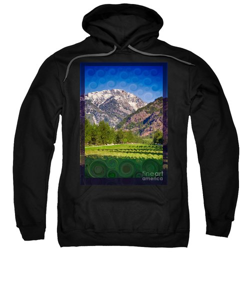 Lost River Airport Runway Abstract Landscape Painting Sweatshirt