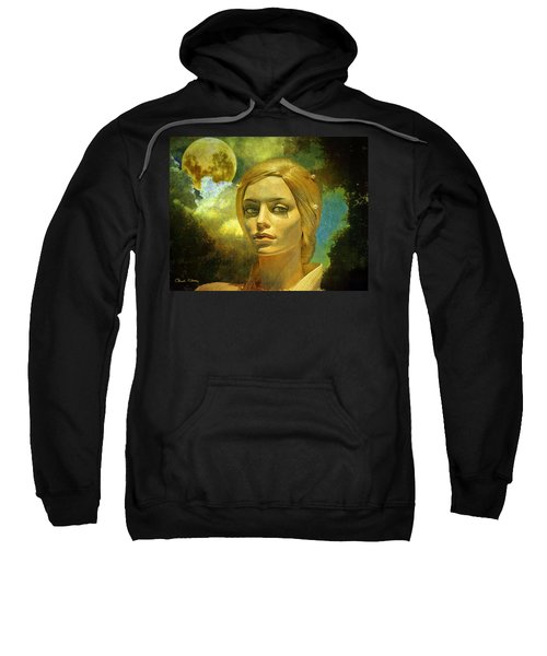 Luna In The Garden Of Evil Sweatshirt by Chuck Staley