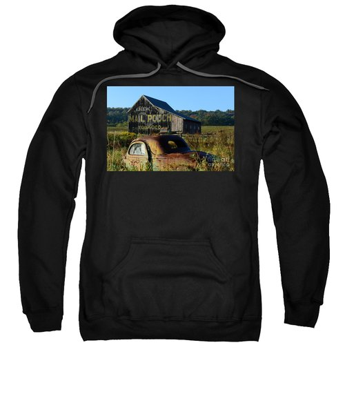 Mail Pouch Barn And Old Cars Sweatshirt