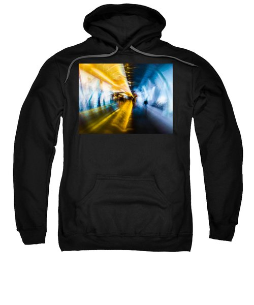 Sweatshirt featuring the photograph Main Access Tunnel Nyryx Station by Alex Lapidus