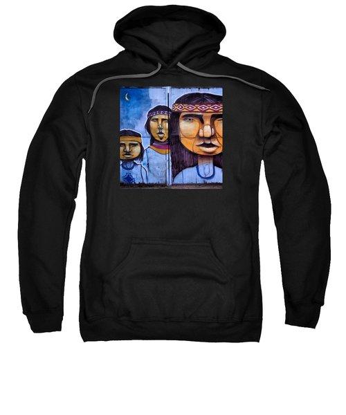 Mapuche Chilean Aborigine Graffiti's Sweatshirt