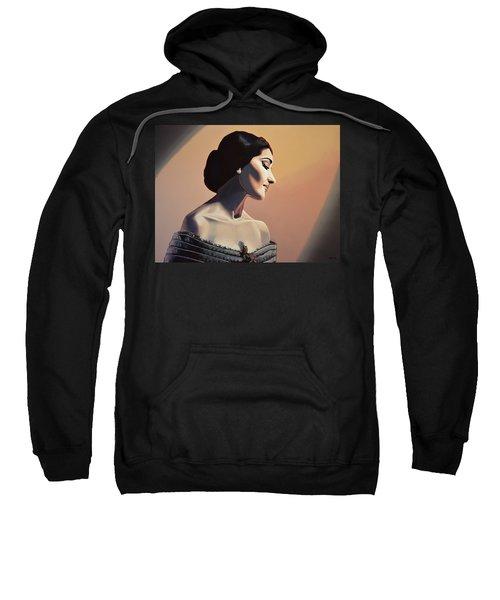 Maria Callas Painting Sweatshirt