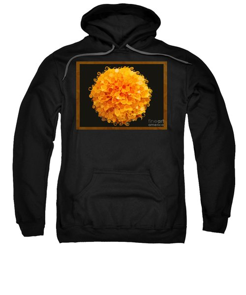 Marigold Magic Abstract Flower Art Sweatshirt