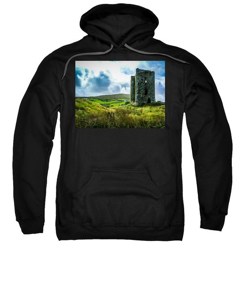 Sweatshirt featuring the photograph Medieval Dunmanus Castle On Ireland's Mizen Peninsula by James Truett