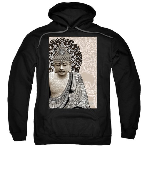 Meditation Mehndi - Paisley Buddha Artwork - Copyrighted Sweatshirt