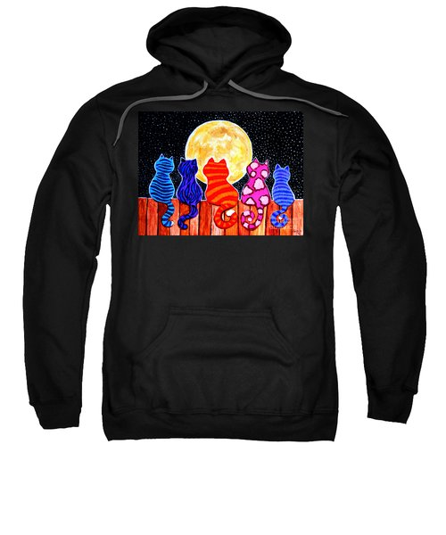 Meowing At Midnight Sweatshirt