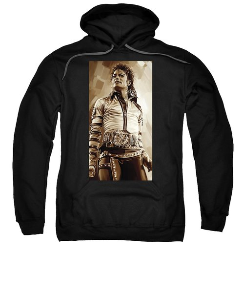 Michael Jackson Artwork 2 Sweatshirt by Sheraz A