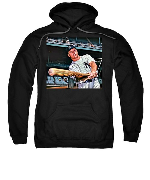 Mickey Mantle Painting Sweatshirt by Florian Rodarte