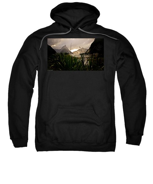 Sweatshirt featuring the photograph Milford Sound by Chris Cousins