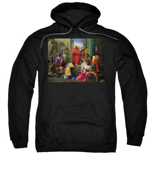 Miracles Of St. Paul At Ephesus, 1693 Oil On Canvas Sweatshirt