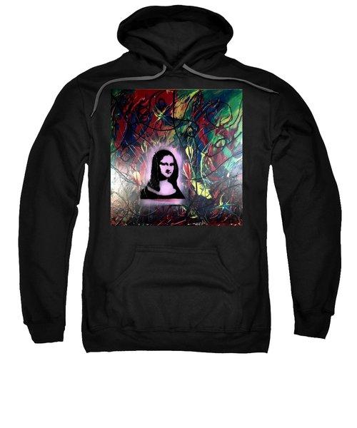 Mixed Media Abstract Post Modern Art By Alfredo Garcia Mona Lisa 2 Sweatshirt