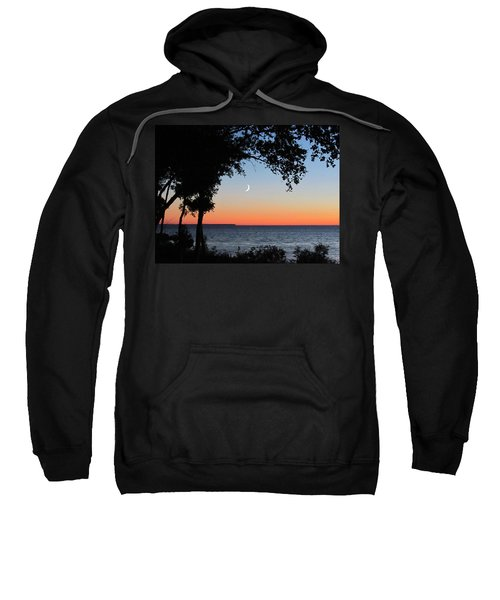 Moon Sliver At Sunset Sweatshirt