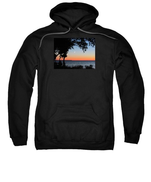 Moon Sliver At Sunset Sweatshirt