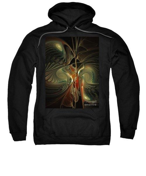 Moonlight Serenade Fractal Art Sweatshirt