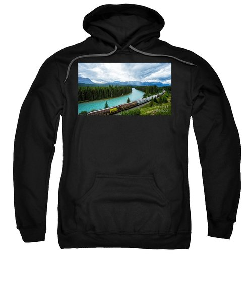 Morant's Curve Bow Valley Banff National Park Canada Sweatshirt