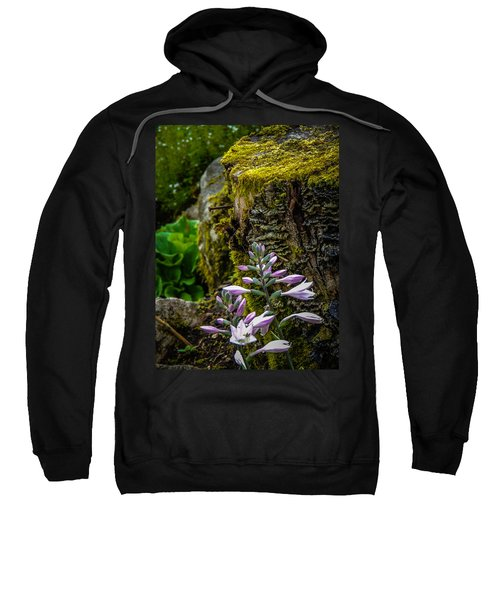 Sweatshirt featuring the photograph Moss And Flowers In Markree Castle Gardens by James Truett