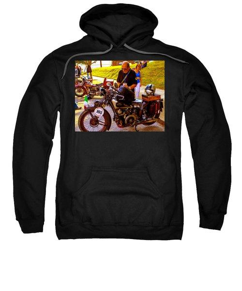 Moto Guzzi At Cannonball Motorcycle Sweatshirt