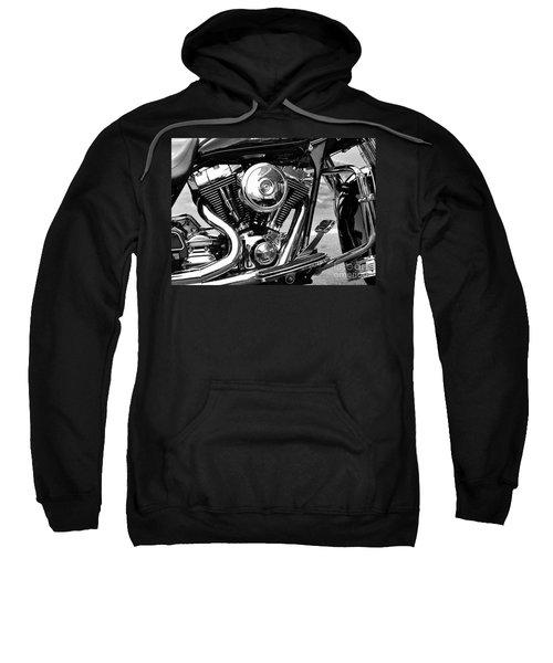 Motorcycle Engine Black And White Sweatshirt
